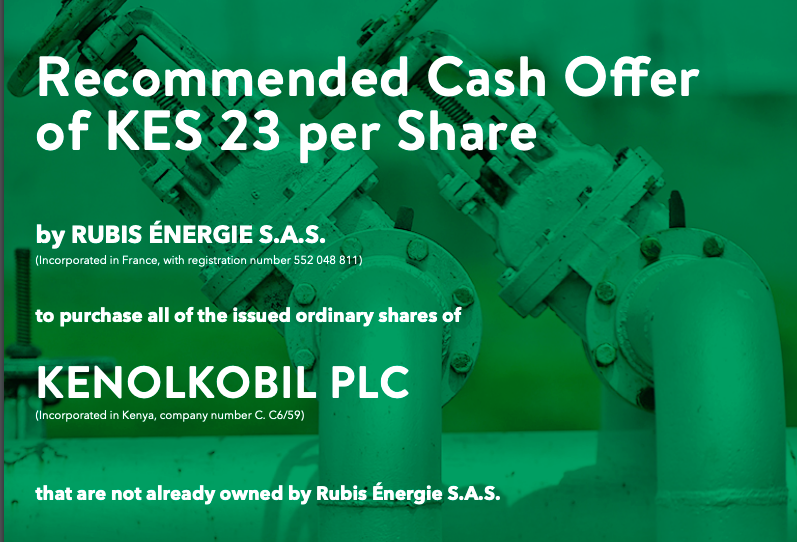 KenolKobil Plc Acquisition by Rubis Énergie S.A.S - Important Dates